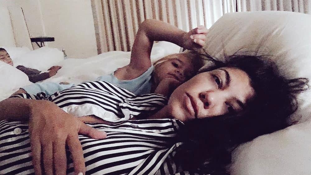 Waking up next to them is my favorite.- Kourtney Kardashian