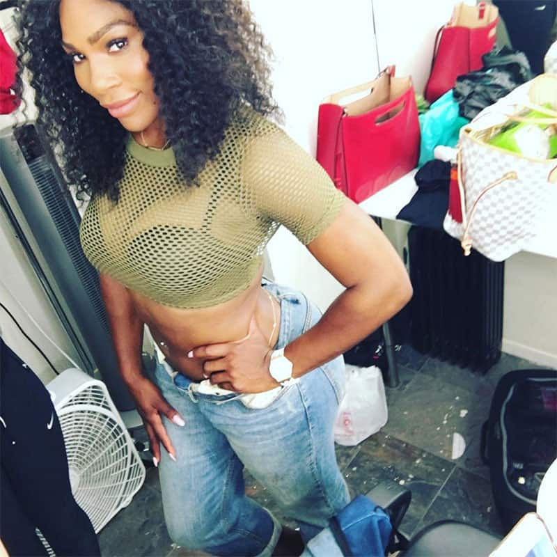 serena williams :- And that's a wrap #cantwait