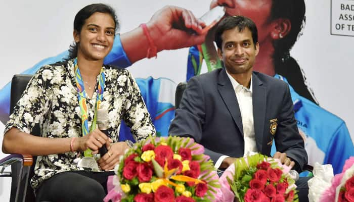 Grand Welcome for champions: After Telangana, Andhra Pradesh government felicitates PV Sindhu, Pullela Gopichand