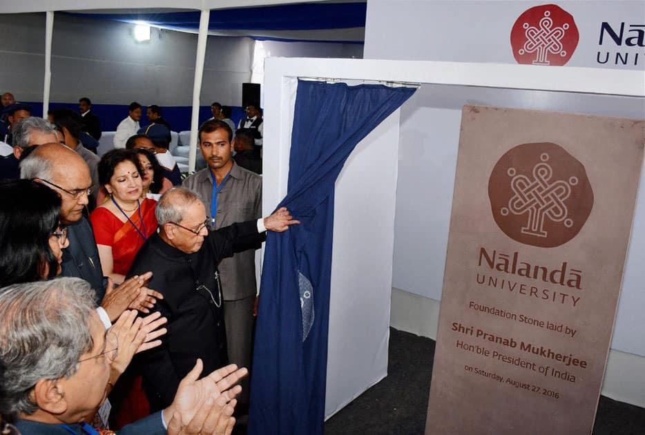 Pranab Mukherjee at Nalanda University Rajbir