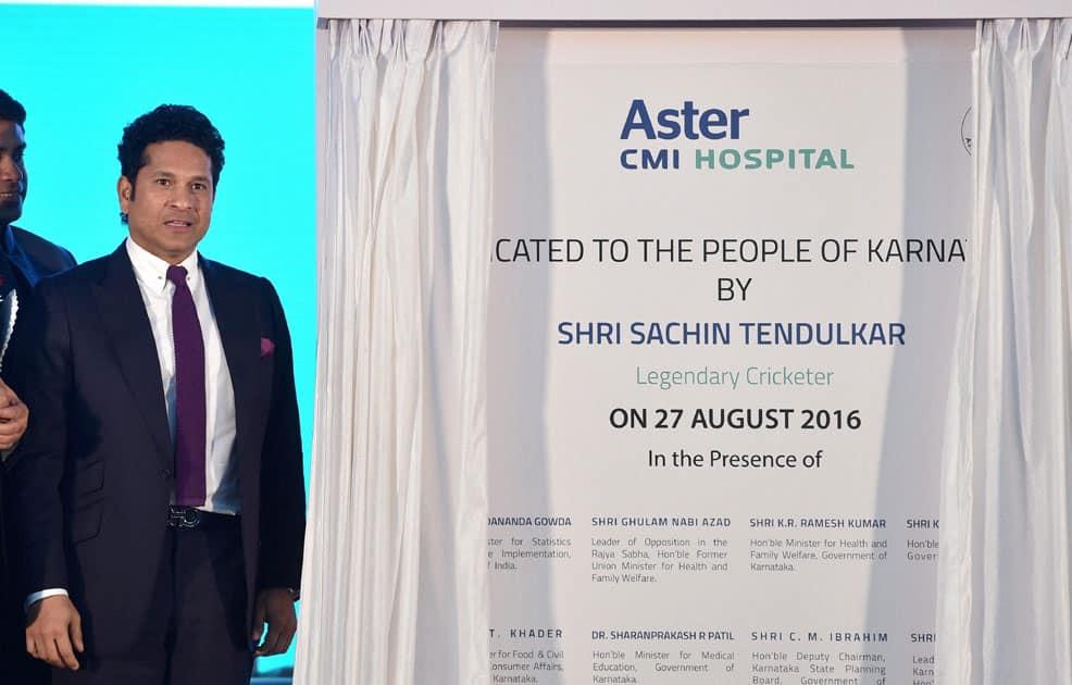 Sachin Tendulkar inaugurates Aster CMI Hospital