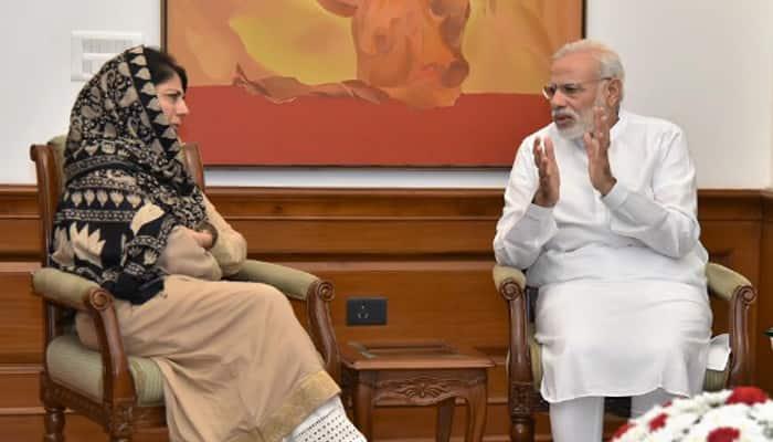 Mehbooba pins Kashmir hopes on PM Modi, blames Pakistan for unrest