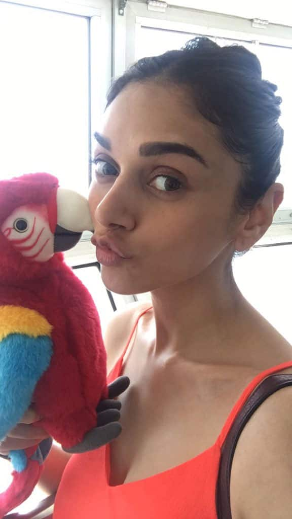 With this cutie at #CNTower #Toronto #BFF #TakeOffTuesday #RobinsonCrusoe @Bazinga_Ent #kissies - Twitter@aditiraohydari