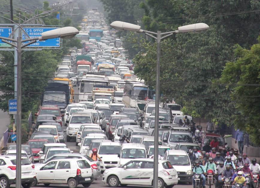 Traffic Jam in Gurgaon