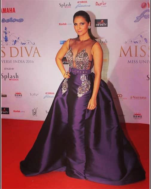 Loving this stunning @Monisha_Jaising gown!- Lara Dutta Bhupathi