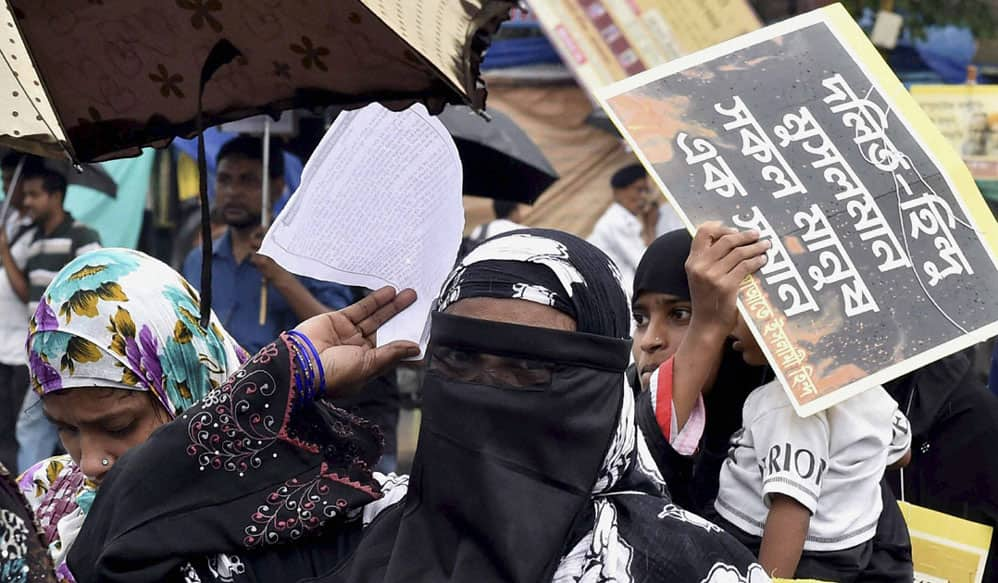 Protest against attack on dalits in Kolkata
