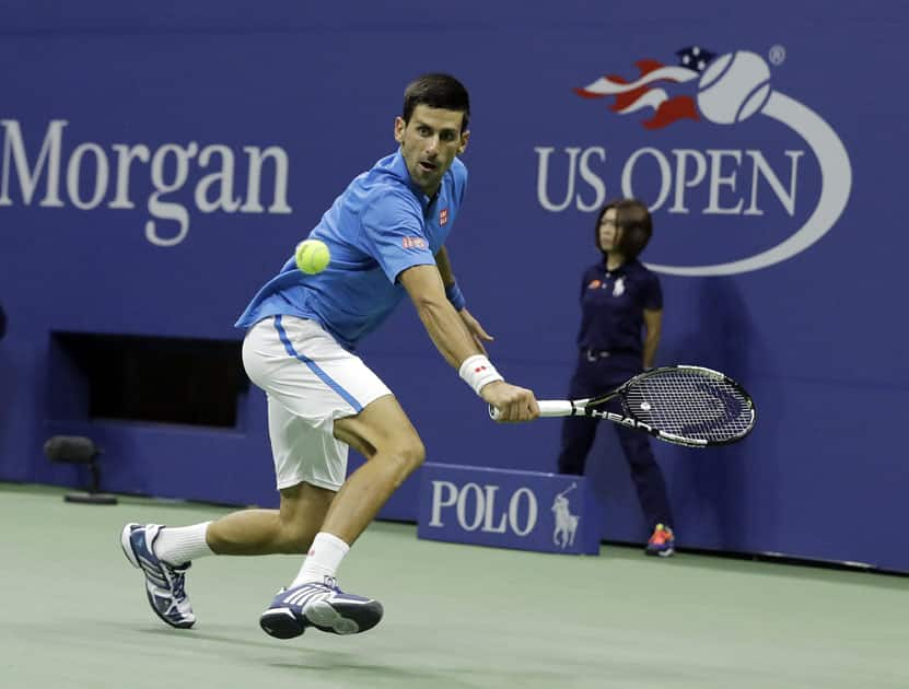 Novak Djokovic during the fourth round of the U.S. Open