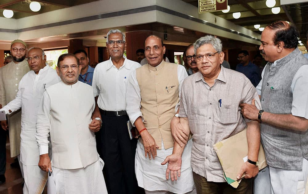 All Party meeting in New Delhi to discuss and assess the situation in Kashmir