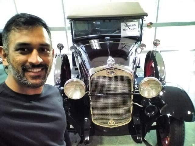 MS Dhoni :- Beautifully restored pick up truck as if it just rolled out of the factory