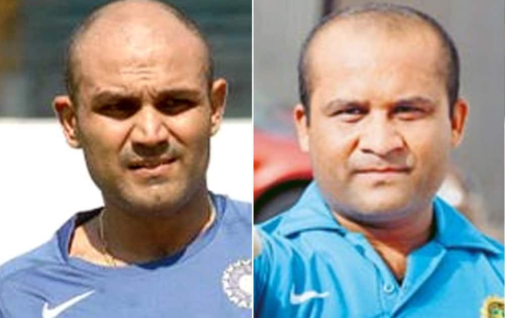 Virendra Sehwag and Jeevan Sharma