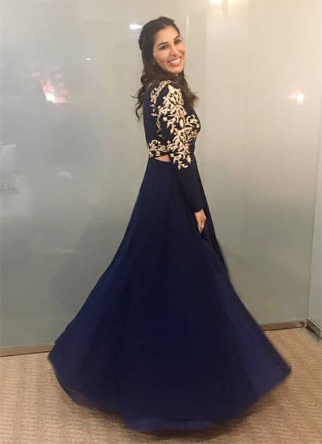 Perfect outfit for a lil twirl #ithsummit #indore Thanku- Sophie Choudry