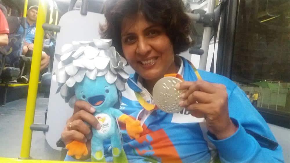 Deepa Malik won a silver medal in shot-put in Rio
