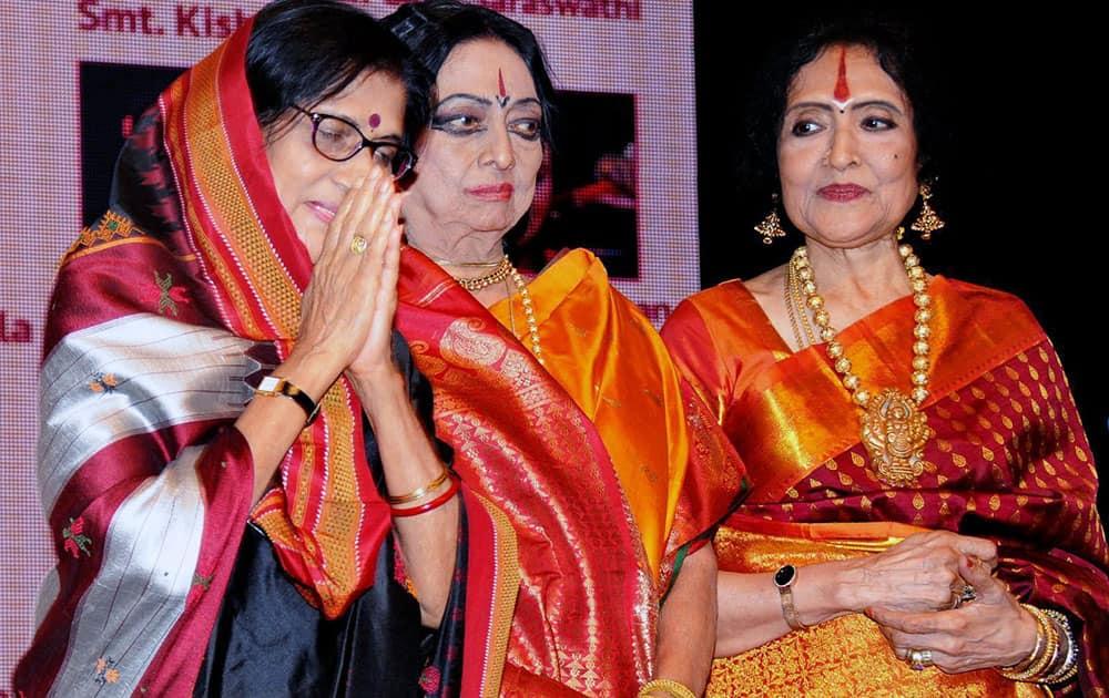 Vaijayantimala during the Bharat Ratna Dr MS Subbulakshmi Centenary Celebration at Shanmukhanand hall in Mumbai