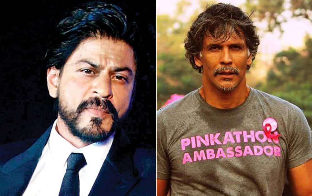 Shah Rukh Khan and Milind Soman