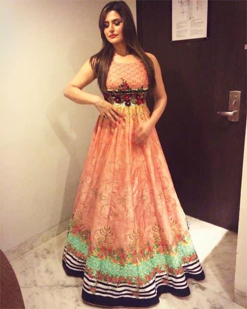 Dolling around in #ArchanaKochhar's beautiful creation!- Zareen Khan