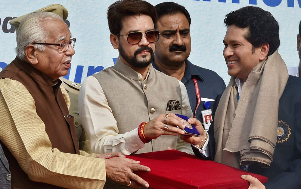 Sachin Tendulkar on the occasion of Indias 500th Test match at Green Park in Kanpur