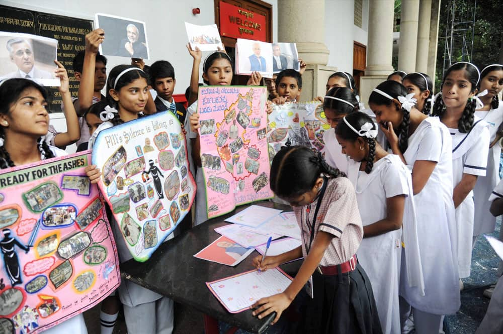 Students write letters to PM Modi