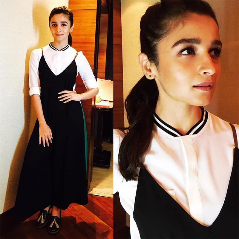 aliaa bhatt :- Today for Hero wearing : Jumpsuit @madison_onpeddar, Shirt @uterqueofficial, Shoes