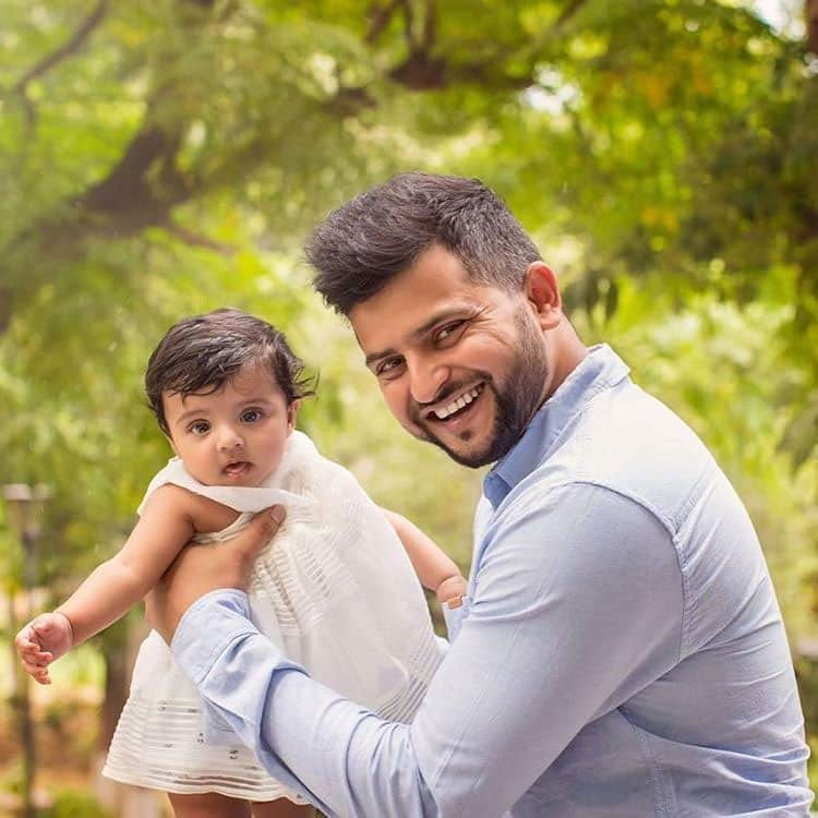 suresh raina :- 3#daughter#love#forever#good#life#gracia