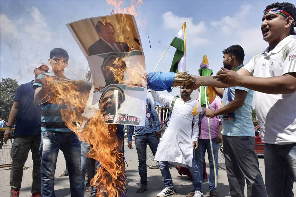 Protests in Patna against Uri Attack