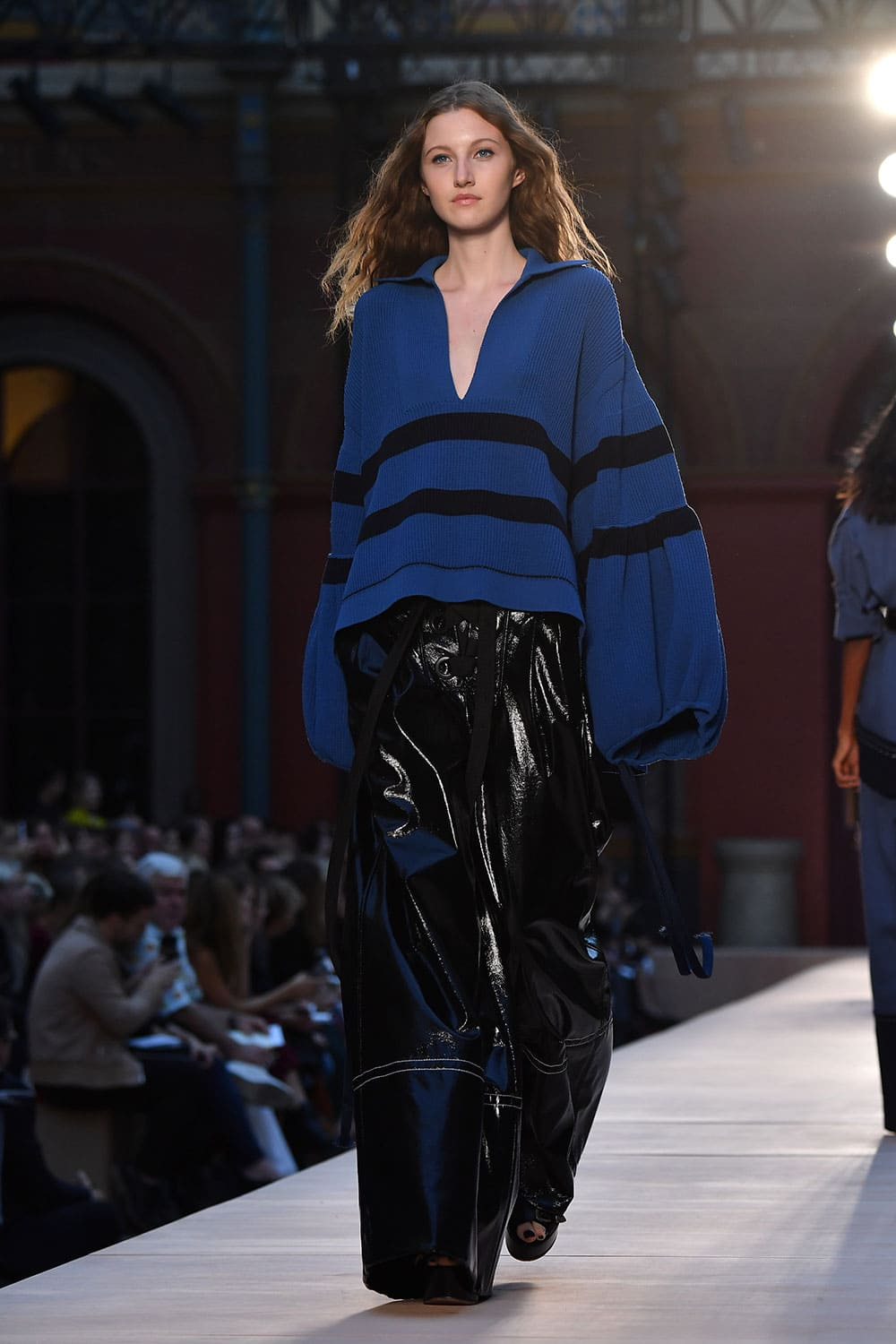 A Model walk the runway during the Sonia Rykiel show as part of the Paris Fashion Week Womenswear Spring/Summer in Paris, France
