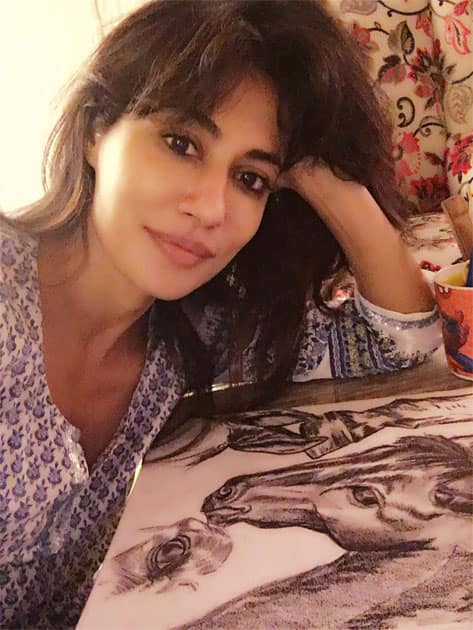 nothing feels better than going back to my sketching- Chitrangda Singh