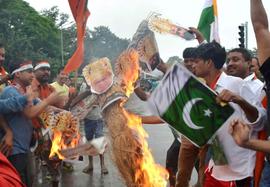 Protest against Pakistan in Patna