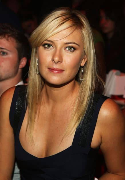Maria Sharapova attends the Herve Leger Spring fashion show