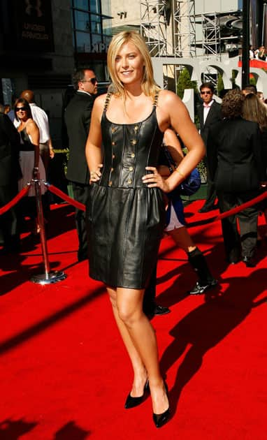 Maria Sharapova arrives at the ESPY Awards