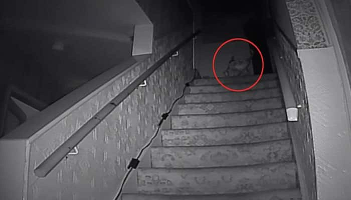 Scary Video Real Ghost Throwing Chair Down A Staircase Must Watch