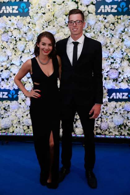 Mitchell Santner and Caitlin Podunski