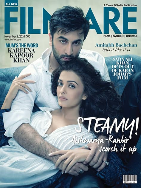 Steamy Hot! Aishwarya & Ranbir feature on the Filmfare cover. - Twitter@WorldOfAish