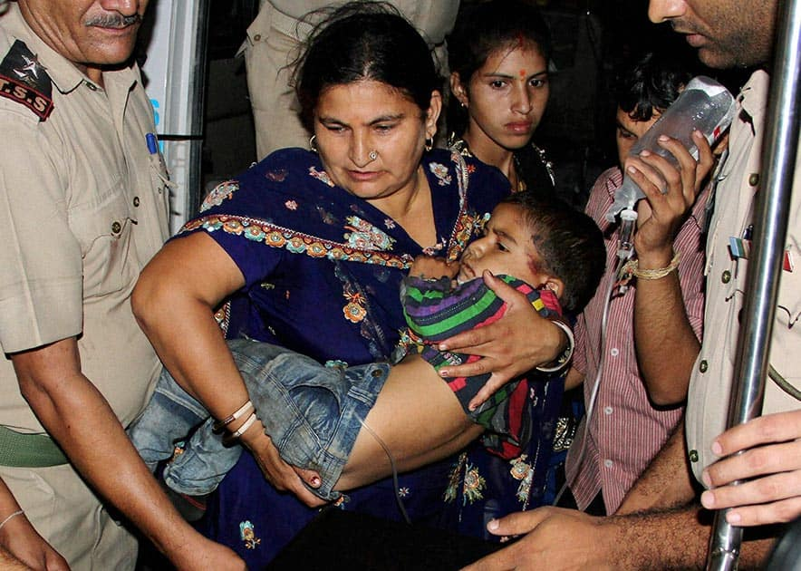 An injured passenger is shifted to the Government Medical College