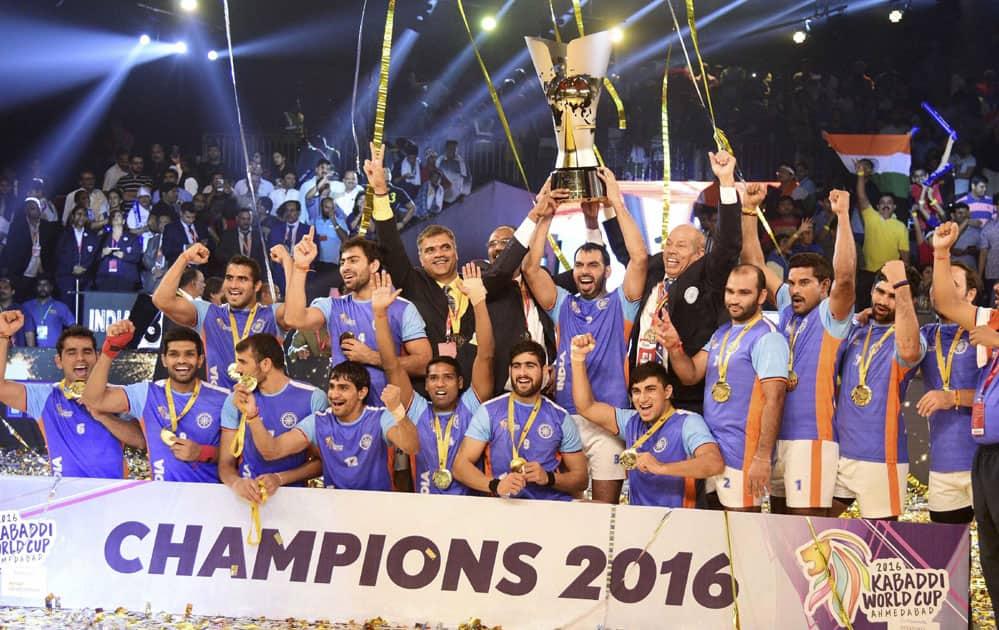 India/ Iran final match of ''Kabaddi World Cup 2016