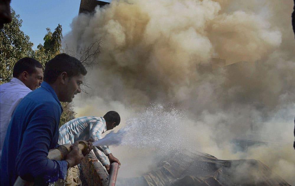 Fire in Gurgaon