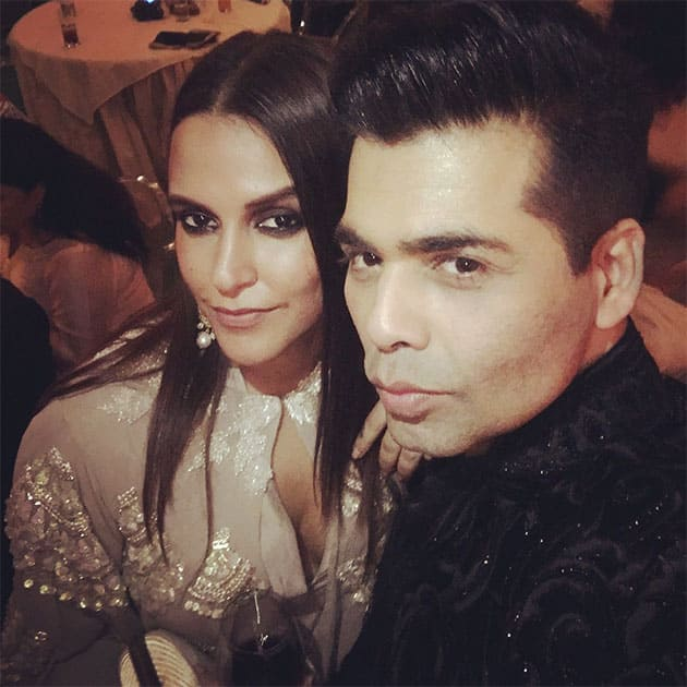The real #firecracker ... @karanjohar - Twitter@NehaDhupia