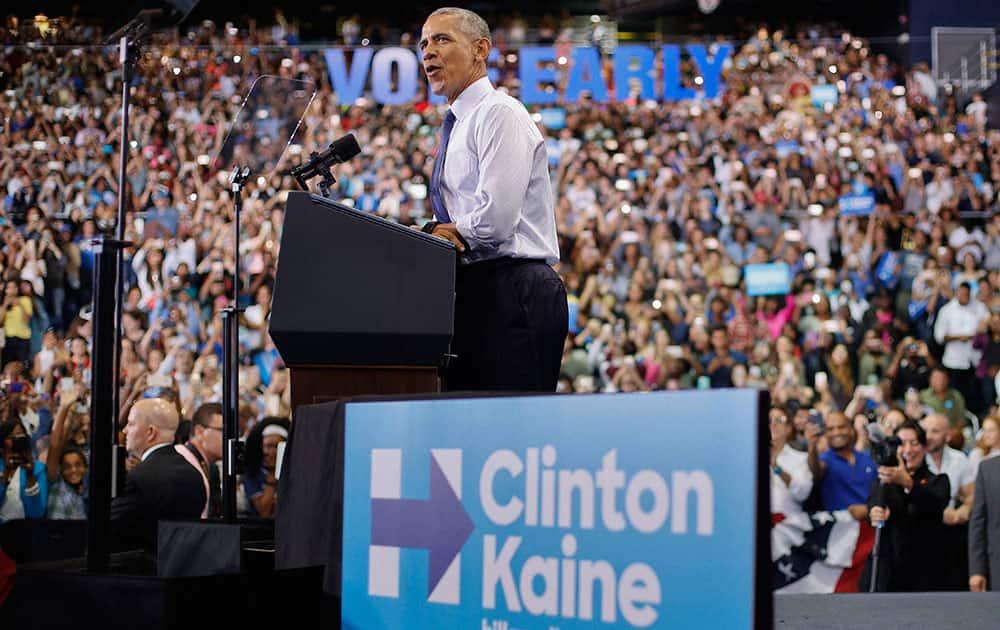 President Barack Obama speaks at Florida International University in Miami