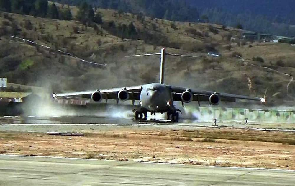 Amid standoff with China, IAF's C-17 makes landing