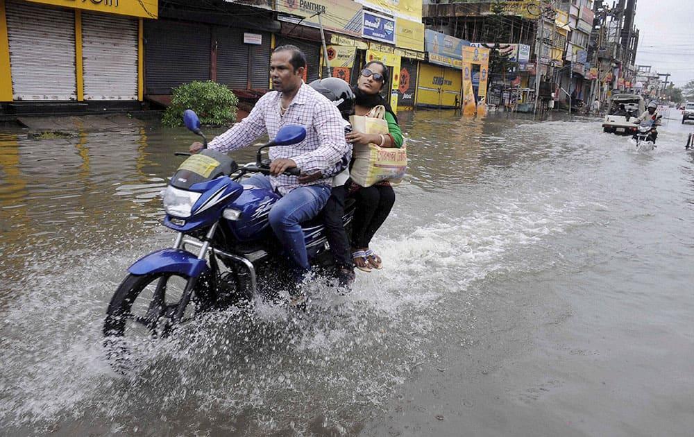 Heavy downpour in Agartala