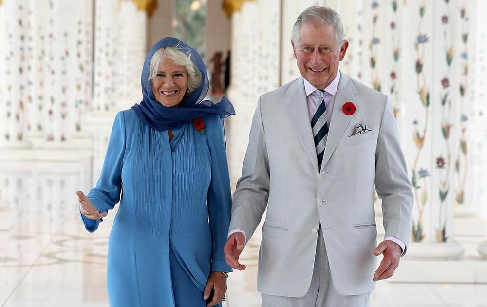 Camilla, Duchess of Cornwall and Prince Charles, Prince of Wales visit the Grand Mosque