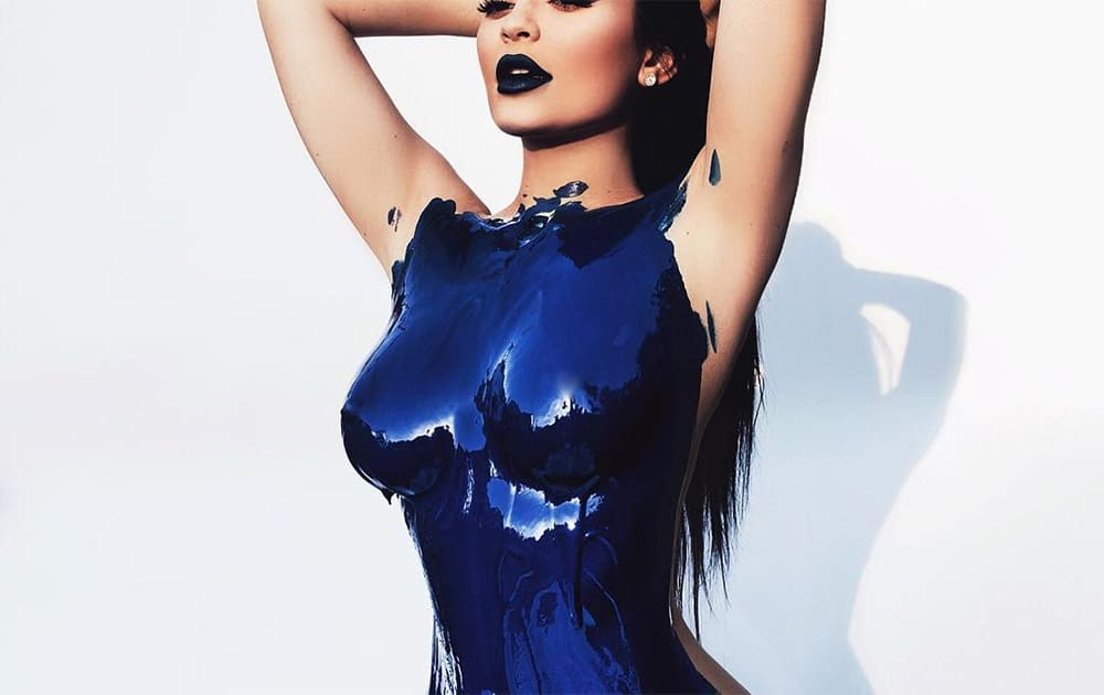 Kylie Jenner Posts Blue Body Paint Shoot to Instagram