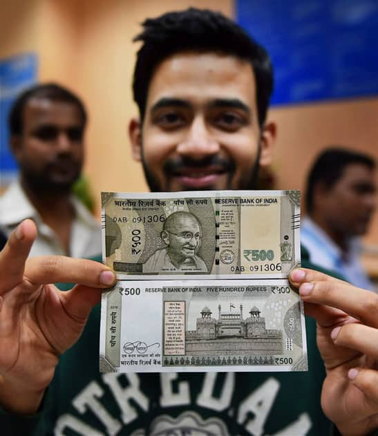 New currency note of Rs 500