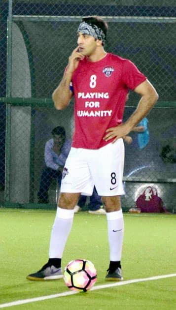 Ranbir Kapoor at Charity football match