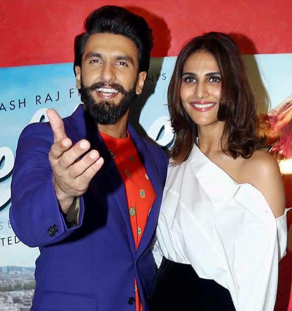 Ranveer Singh and Vaani Kapoor at the book launch of The Legend of Lakshmi Prasad