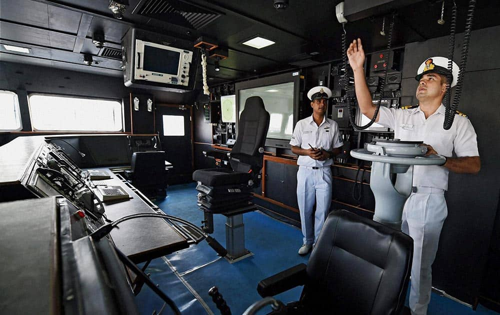 Inside view of INS Chennai