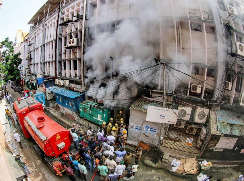 Fire in Chennai