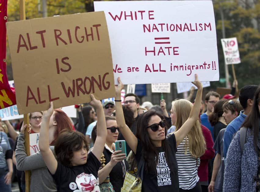 Protest against donald trump