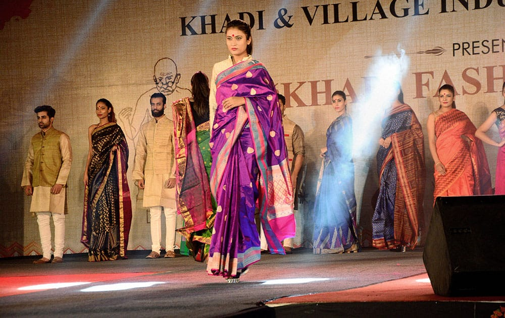 Khadi collection at fashion event