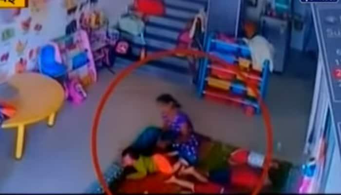 Navi Mumbai: Day care maid beats, kicks 10-month-old baby in Kharghar - shocking CCTV footage goes viral
