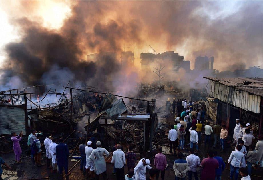 Fire in Mumbai